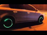 Неоновая подсветка колёс Зеленая на ниппеле для велосипеда, мотоцикла, автомобиля