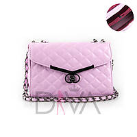 """Клатч стеганый """"Chanel Boy"""" 923L.pink"""