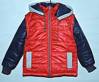 Куртка-трансформер для мальчика 4-11 лет красная