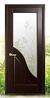 Межкомнатная дверь Амата со стеклом рисунок Р-2