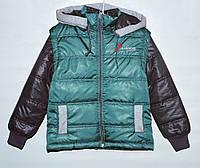 Куртка-трансформер для мальчика 4-11 лет зеленая