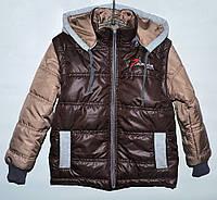 Куртка-трансформер для мальчика 4-11 лет коричневая