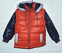Куртка-трансформер для мальчика 4-11 лет терракотовая