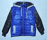Куртка-трансформер для мальчика 4-11 лет синяя