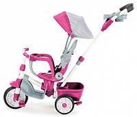 Велосипед трехколесный розовый 4 в 1