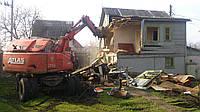Демонтаж старого дома Снос дачи, здания, строения Стоимость, фото 1