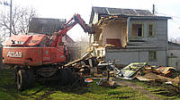Демонтаж старого дома Снос дачи, здания, строения Стоимость
