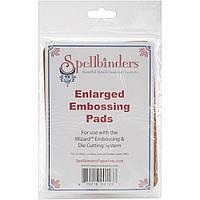 Набор ковриков для тиснения Spellbinders Enlarged Embossing Pads Резиновые 2 шт (879216001237)