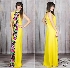 Платье в пол вставка цветы 23/885, фото 2
