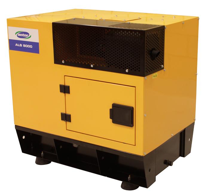 Дизельний однофазний генератор ANTOR ALS 8000 MS (7,5 кВт) в капоті