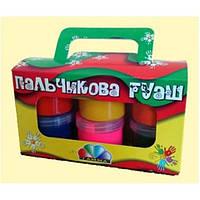 Краски пальчиковые 6 цветов по 60 мл Гамма-Н 322073