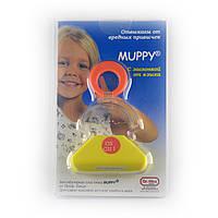 Пластина вестибулярная с проволочной заслонкой для молочного прикуса MUPPY-G (OS/GUI)