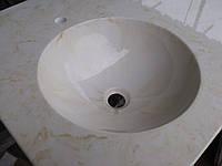 Умывальник  литой мрамор