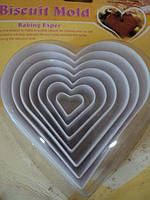 Форма кондитерская из 7-ми сердец