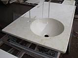 Умивальник з каменю зі стільницею (литий умивальник +2700грн./шт. додатково), фото 5