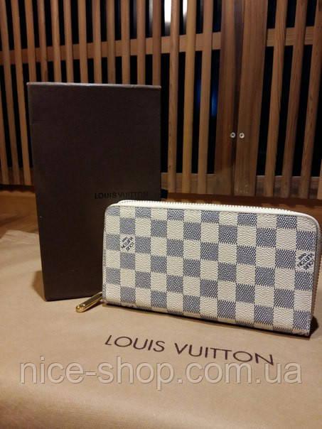 Кошелек Louis Vuitton Люкс кремовый в клетку, фото 2