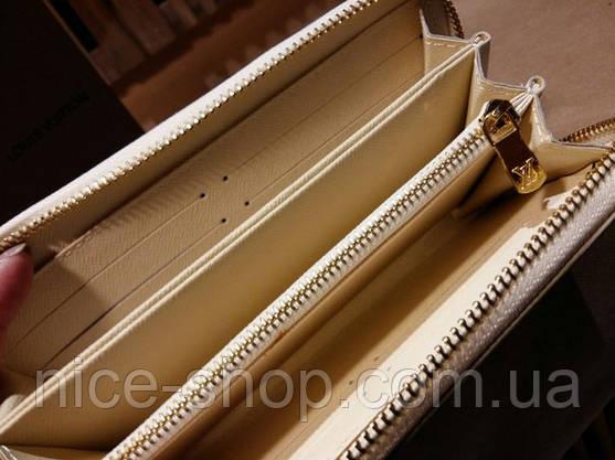Кошелек Louis Vuitton Люкс кремовый в клетку, фото 3