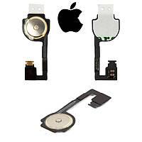 Шлейф для Apple iPhone 4S, кнопки меню (оригинал)