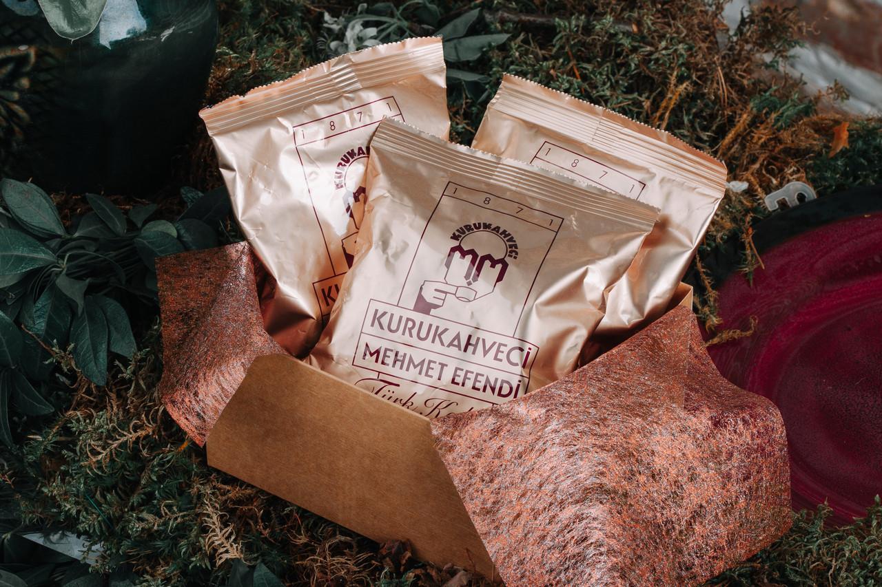 Турецкий кофе молотый Mehmet Efendi 300 г в подарочной упаковке