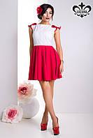 """Летнее женское платье """"Шанти"""" (белый+красный), фото 1"""
