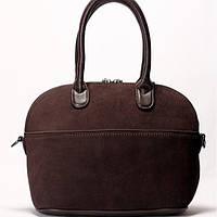 Женская сумка Gilda Tohetti  замшевая коричневого цвета