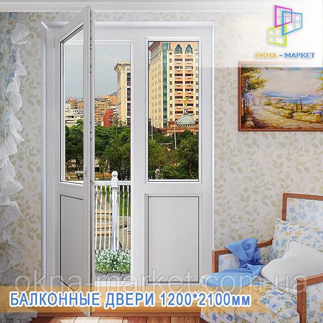 Балконные двери с одной открывающейся створкой