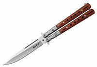 Нож туристический балисонг бабочка 1029, стальной клинок, для флиппинга, ножи бабочки, ножи хулиганс