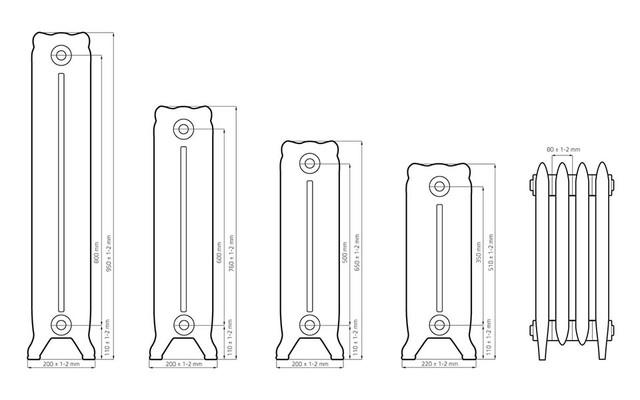 Чугунный радиатор отопления Windsor