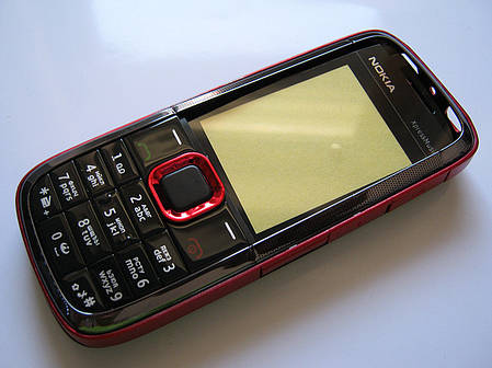 Корпус для Nokia 5130 красный с клавиатурой class AAA, фото 2
