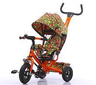 Велосипед трехколесный TILLY Trike T-351-4 ОРАНЖЕВЫЙ с надувными колесами