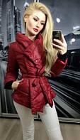 """Куртка """"Варя"""", бордовая"""