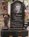 Скульптура в Украине. Надгробный Ангел с розами из полистоуна 57 см, фото 7
