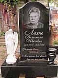 Скульптура в Украине. Надгробный Ангел с розами из полистоуна 57 см, фото 8