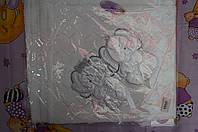 Плед на выписку Турция Слоники опт 100/90 см.Вязка