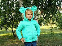 Курточка с ушками Микки Маус. Размеры: 128-152. Мята
