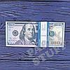 Сувенирные деньги 100 долларов нового образца