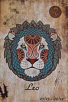 "Шкатулка-книга из искусственной кожи ""Лев"" (30х21х7), фото 1"