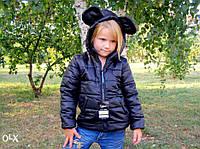 Курточка с ушками Микки Маус. Размеры: 80-122.Черная