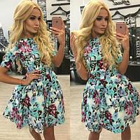 Летнее цветное платье с-4028
