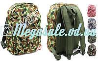 Рюкзак городской VANS 4971 камуфляжный (ранец спортивный): 43х30х13см, 5 цветов (реплика)