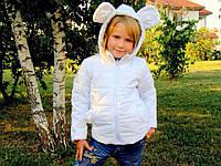 Курточка с ушками Микки Маус. Размеры: 80-122.Белая