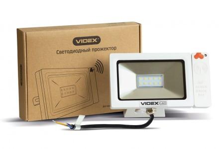 LED прожектор VIDEX Slim Sensor 10W 5000K 220V белый