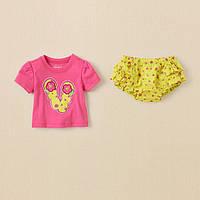 Детский летний комплект для девочки  3-6 месяцев