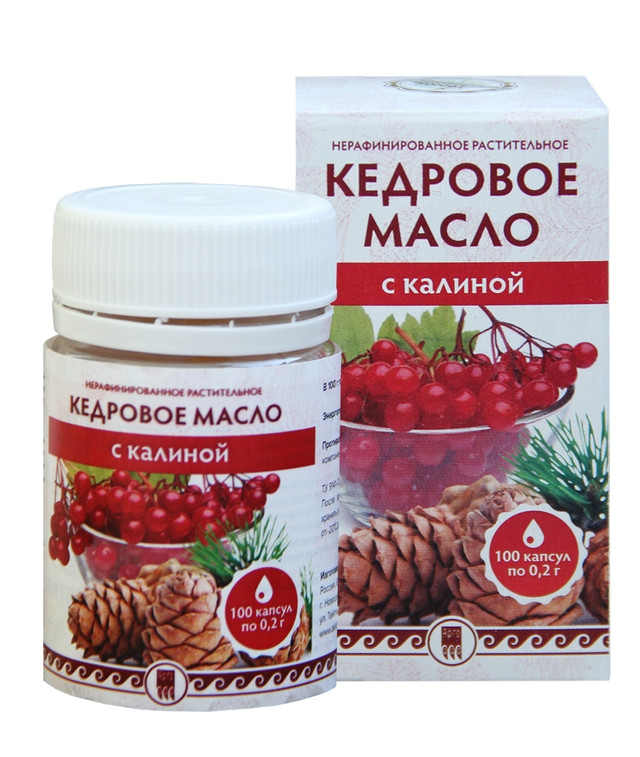 Кедрове масло з калиною (вітаміном Е)