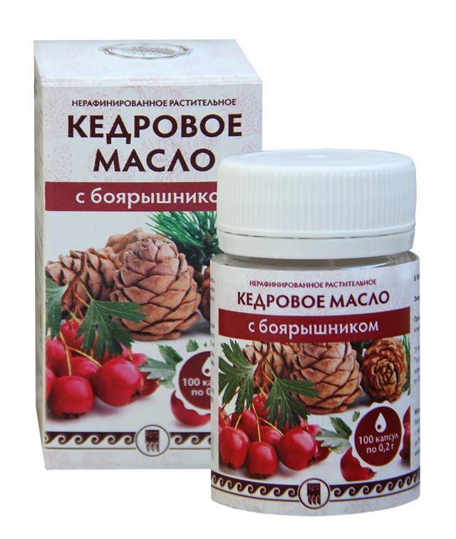 Кедровое масло с боярышником