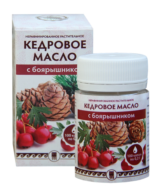 Кедровое масло с боярышником - для поддержки сердца и сосудов - Интернет-магазин здоровья и красоты АПИФАРМ в Киеве