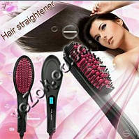 Электрическая расческа выпрямитель для волос Fast Hair Straightener HQT-906 с LCD дисплеем