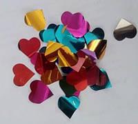 """Конфетти из фольги J-66H """"сердце"""" микс, 1 кг"""