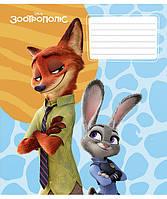 """Тетради на скобе """"Школярик"""" (Disney) Zootopia Star 12 листов в клеточку"""
