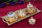 Набор чашек для кофе Золотой тюльпан Sena на 2 персоны